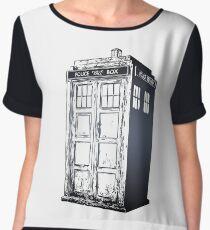 Doctor Who- Tardis Women's Chiffon Top