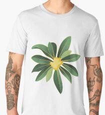 Loquat medlar tree in Autumn I Men's Premium T-Shirt
