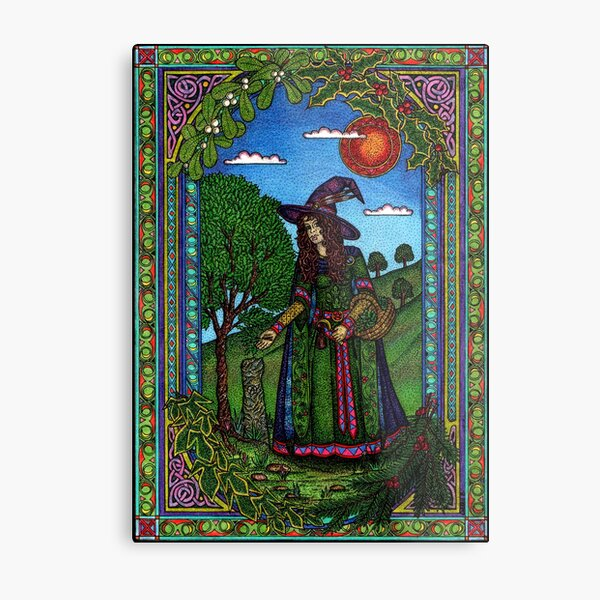 Yule Two, Evergreen (in Colour) Metal Print