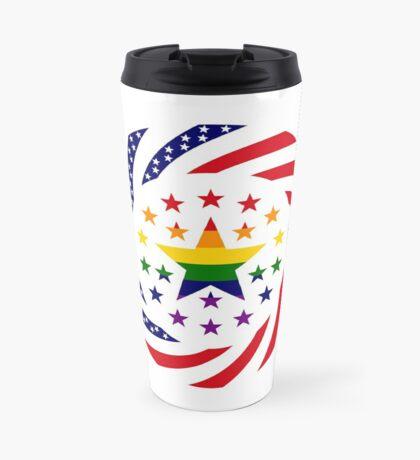 Love is Love American Flag 2.0 Travel Mug