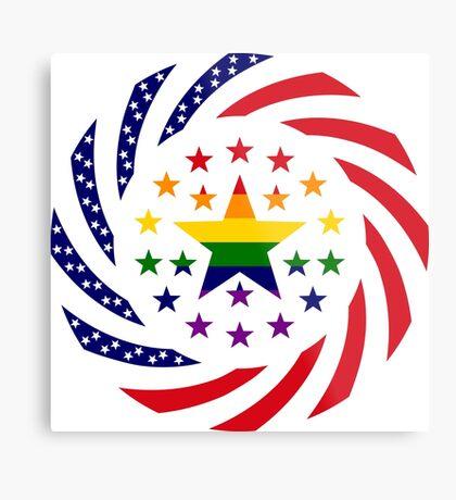 Love is Love American Flag 2.0 Metal Print