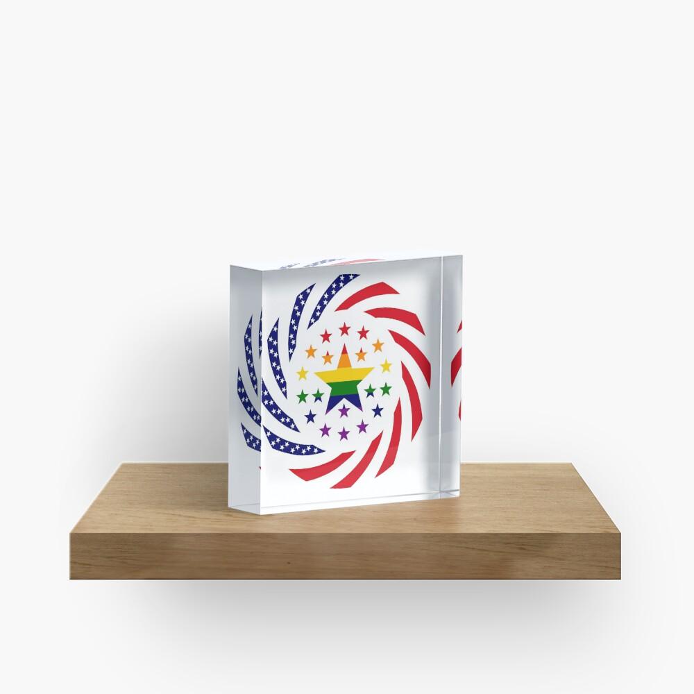 Love is Love American Flag 2.0 Acrylic Block