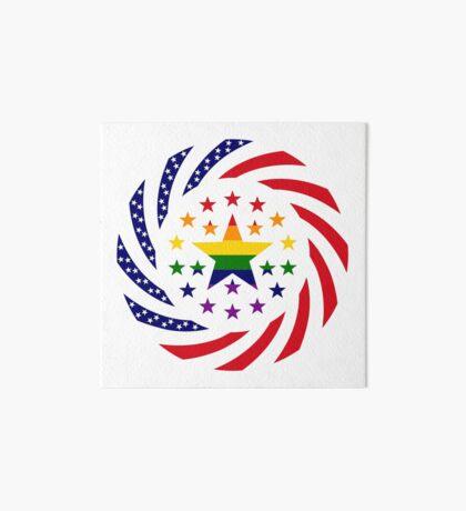 Love is Love American Flag 2.0 Art Board Print