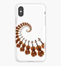 Spiral out of control with music on your Stradivarius violin iPhone Case/Skin