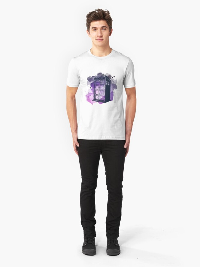 Alternate view of Tardis Nebula Slim Fit T-Shirt
