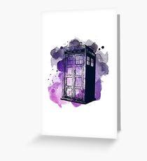 Tardis Nebula Greeting Card