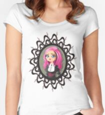 Gothic doll crying Women's Fitted Scoop T-Shirt