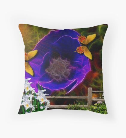 ~ GARDEN BLUES ~ Throw Pillow