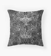 Escher Skull Throw Pillow