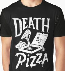 Tod durch Pizza Grafik T-Shirt
