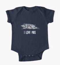 I Love Pigs - Schwein Kids Clothes