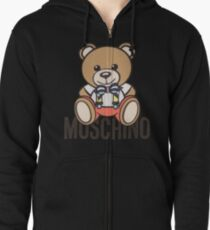 Moschino bear Zipped Hoodie