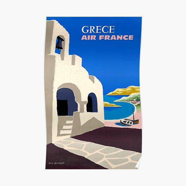 1959 Affiche de voyage d'Air France en Grèce Poster