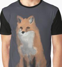 Simplistic Red Fox Graphic T-Shirt