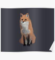 Simplistic Red Fox Poster
