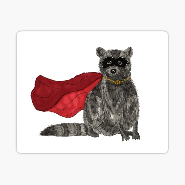 Super Raccoon! Sticker