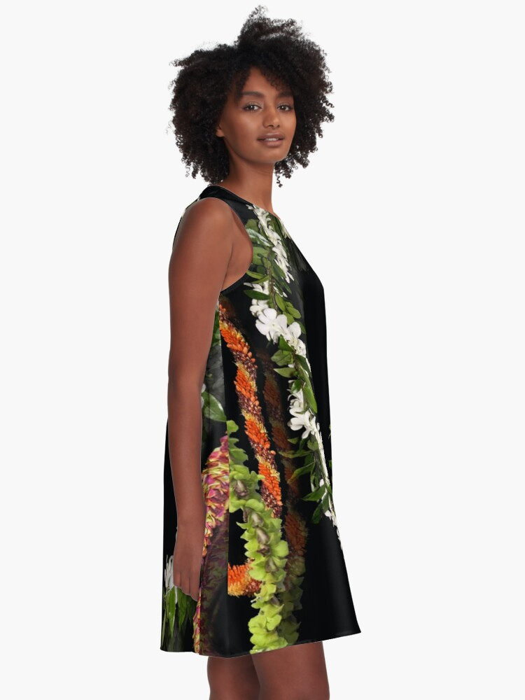 Alternate view of Vintage Hawaiian Lei Collection A-Line Dress