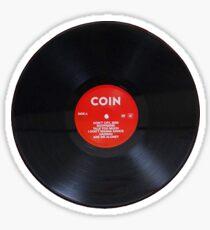 COIN vinyl record Sticker