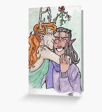 Very Merry Mistletoes - VaxLeth Greeting Card