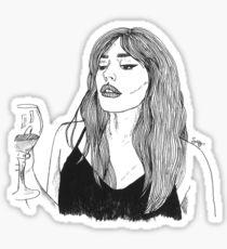 Orion Carloto Wineglass  Sticker