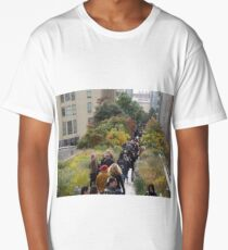 Walking on an Autumn Day, New York City  Long T-Shirt