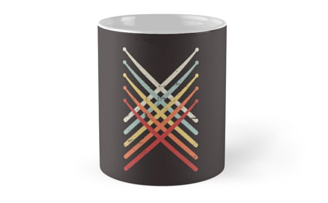 percussion marching band drum sticks mugs by ethandirks redbubble. Black Bedroom Furniture Sets. Home Design Ideas