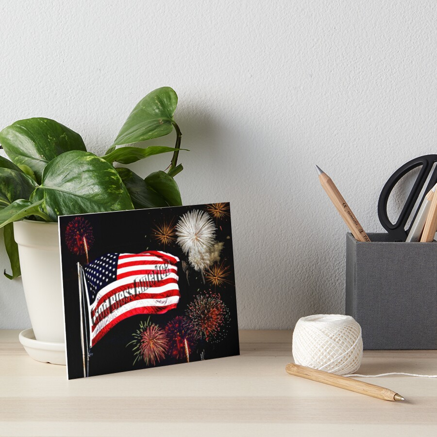 Flag and Fireworks by Kathy Weaver
