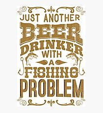 Beer and Fishing Problem Photographic Print