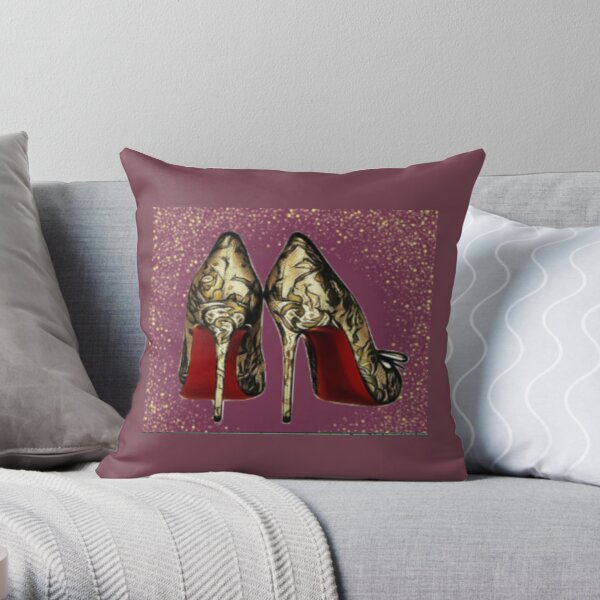 Red Bottom Heels Pillows Cushions Redbubble