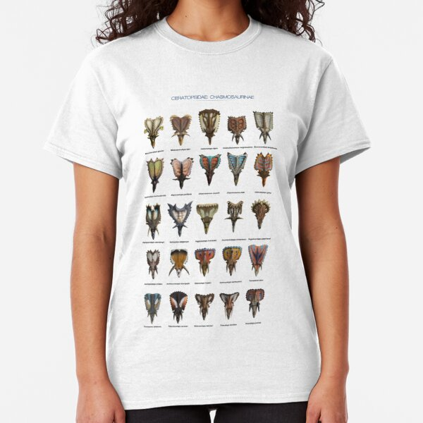 Front view of ceratopsid heads Classic T-Shirt