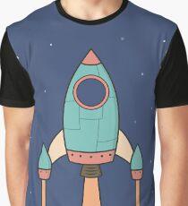 Cool Kids Spaceship Rocket  Graphic T-Shirt