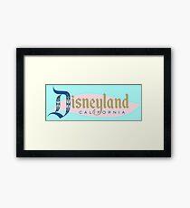 Disneyland Vintage Logo Framed Print