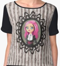 Gothic doll crying Women's Chiffon Top