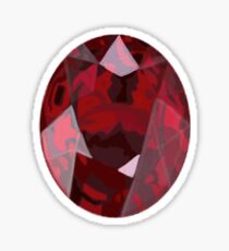 Ruby-July Birthstone Sticker