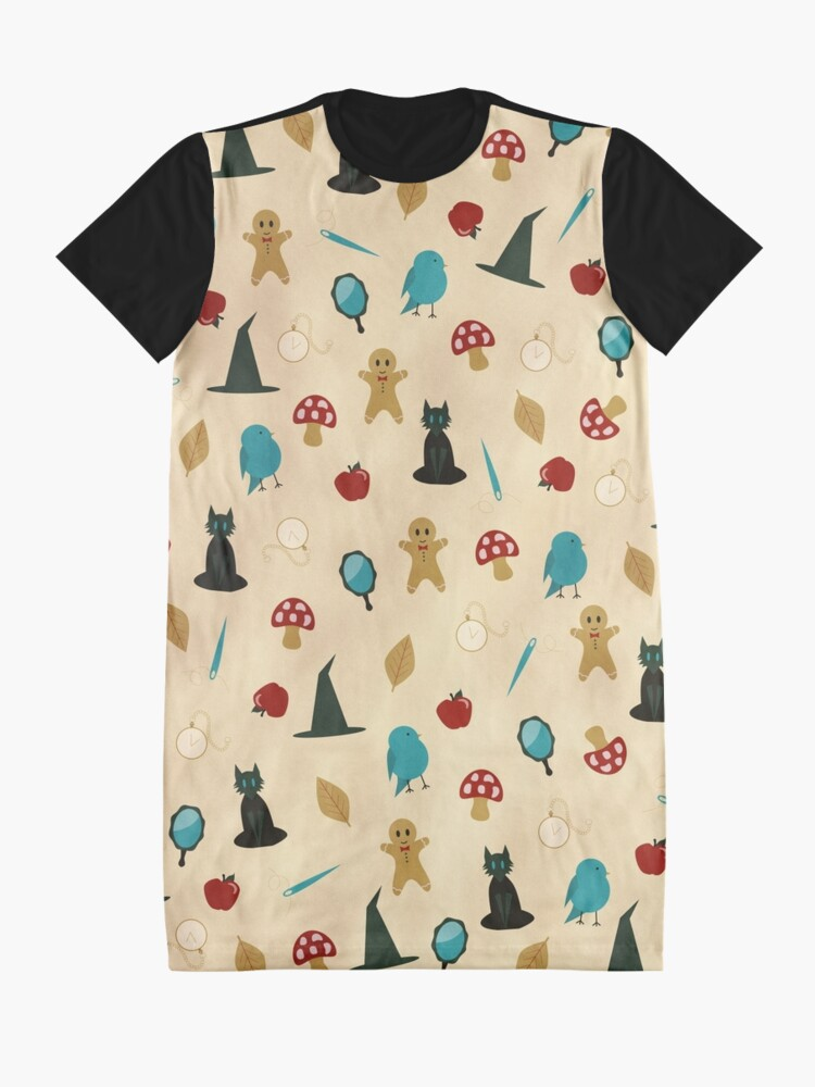 Alternate view of Fairytale Pattern Graphic T-Shirt Dress