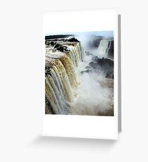 Devil's Throat at Iguassu Falls, Brazil & Argentina.  Greeting Card