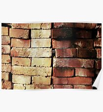 aged used clinker bricks Poster