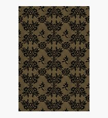 Deep Dull Gold black lace Photographic Print