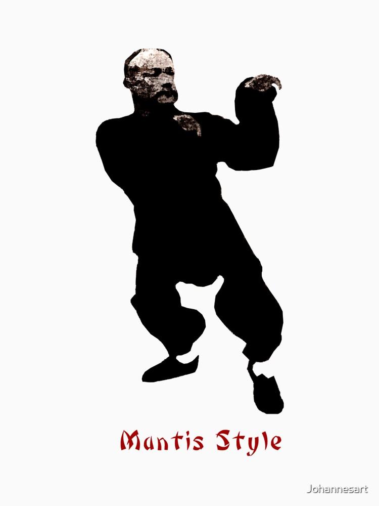Mantis Style Shaolin Kung Fu T-Shirt von Johannesart