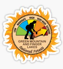 Green Mountain and Finger Lakes National Forests Wildland Firefighter Sticker