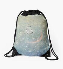 be the light Drawstring Bag