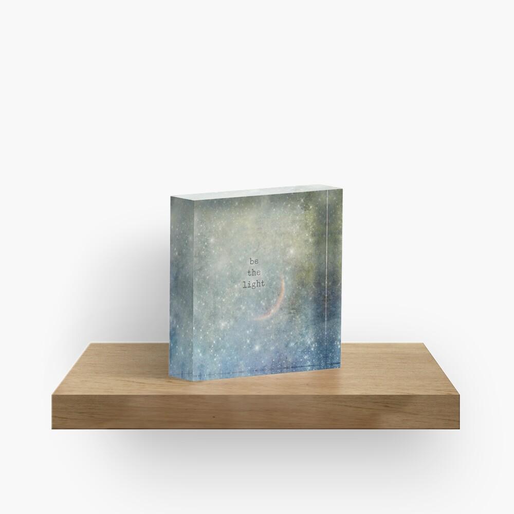 be the light Acrylic Block