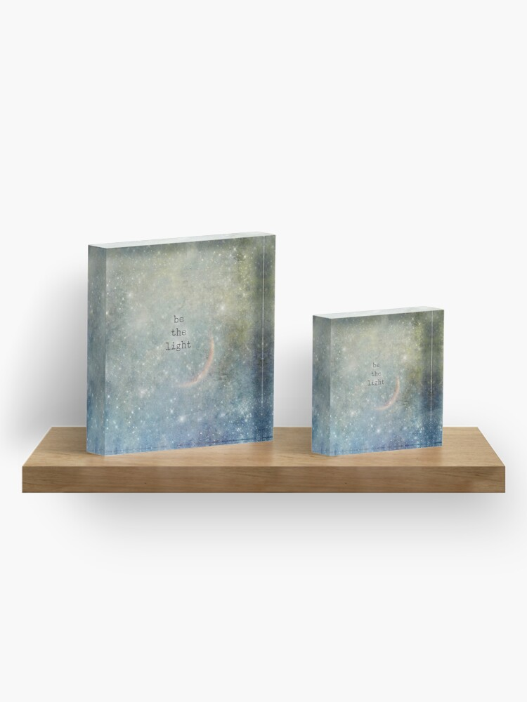 Alternate view of be the light Acrylic Block