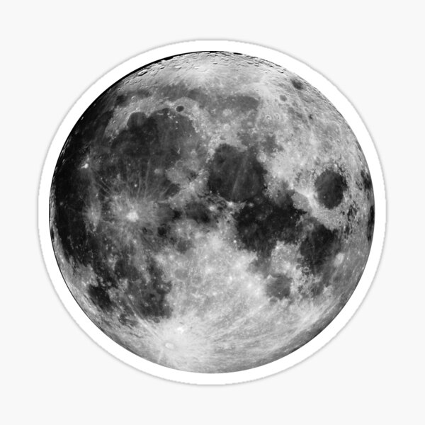 True Moon Sticker