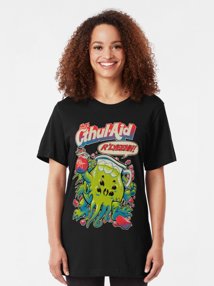 Alternate view of CTHUL-AID Slim Fit T-Shirt