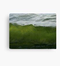 Green Wave Canvas Print