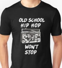 Boombox Old School Hip Hop Won't Stop Rap T-Shirt