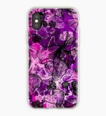 Wahine Lace Hawaiian Orchid Illustration - Pink, Violet and Black iPhone Case