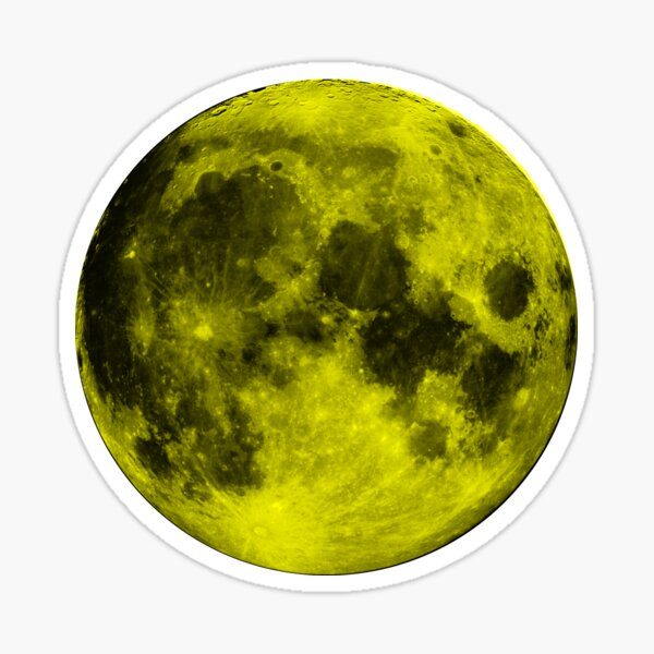 Yellow Moon Sticker