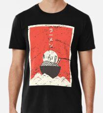Camiseta premium Vintage japonés Anime Ramen